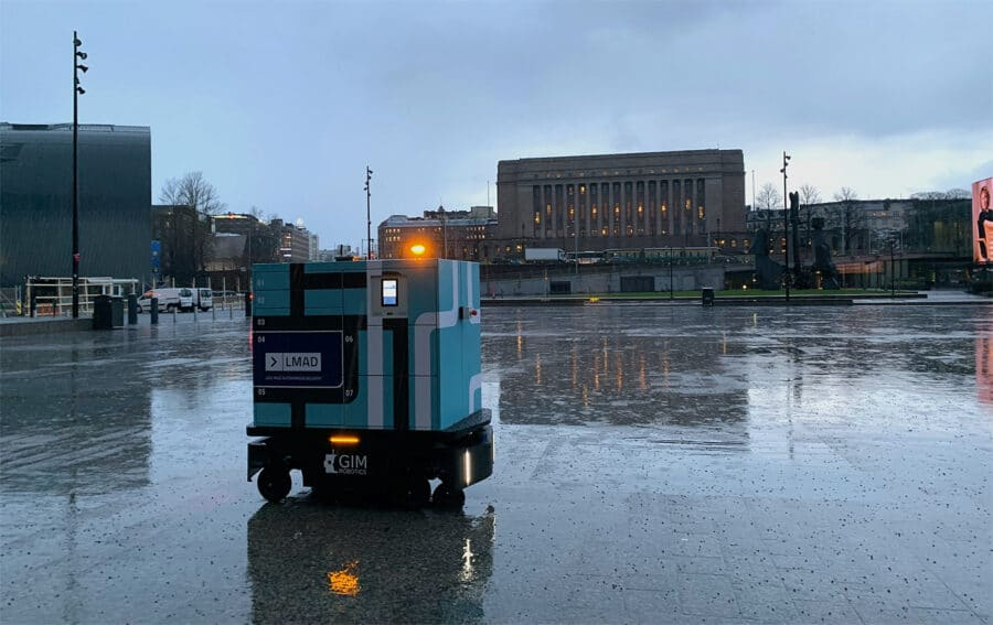 LMAD's robot in Helsinki