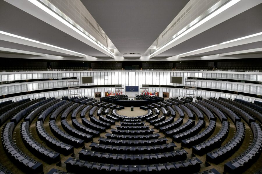 The European Parliament's hall
