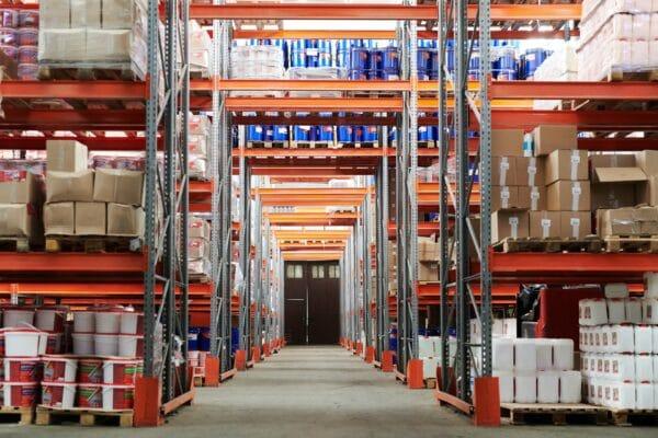 Stocked warehouse