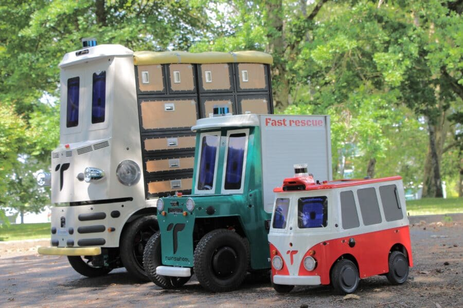 Three TwinswHeel autonomous robots
